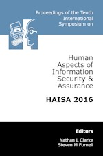 Tenth International Symposium on Human Aspects of Information Security & Assurance (HAISA 2016)