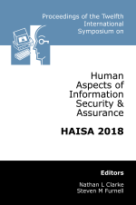 Twelfth International Symposium on Human Aspects of Information Security & Assurance (HAISA 2018)