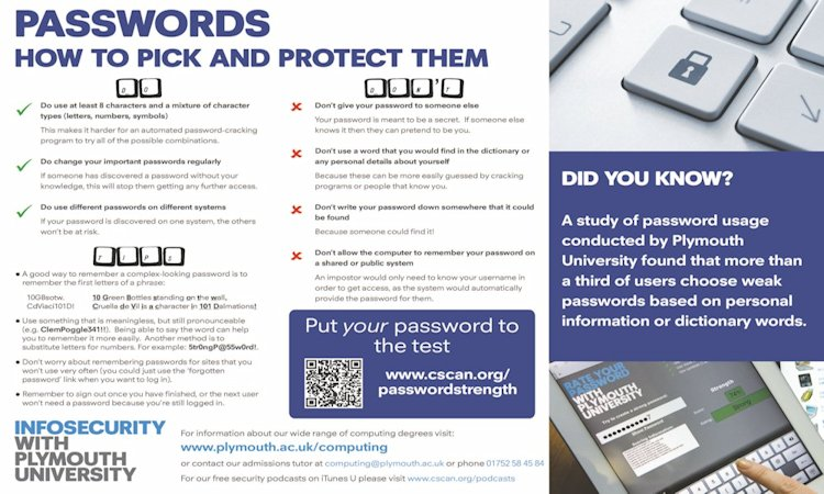 Download our password poster